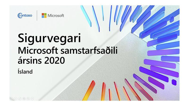 Viðurkenning fyrir framúrskarandi árangur í innleiðingu og þróun Microsoft lausna